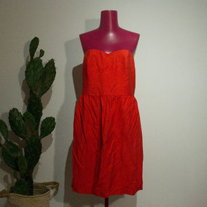 2 for $30 / LOFT Strapless Red Dress